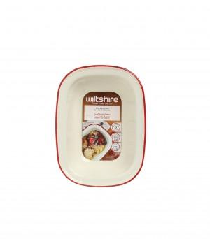 澳洲ENAMEL手工方形烤盤400ML-紅