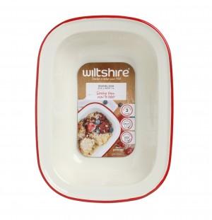 澳洲ENAMEL手工方形烤盤1000ML-紅